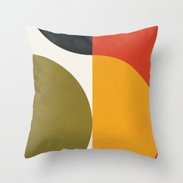 Attached Abstraction 10 Throw Pillow