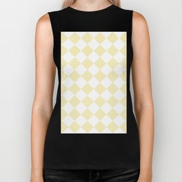 Large Diamonds - White and Blond Yellow Biker Tank