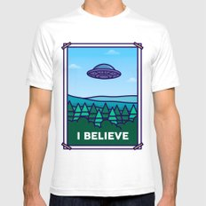 I Believe White SMALL Mens Fitted Tee
