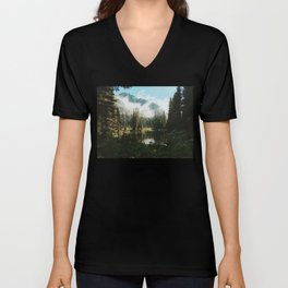 Quiet Washington Morning Unisex V-Neck