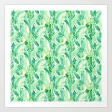 Fern Palm Green Art Print
