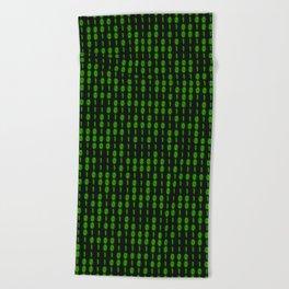 Binary Code Inside Beach Towel