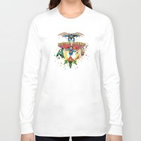 art history Long Sleeve T-shirts featuring History Friends by The Cracked Dispensary