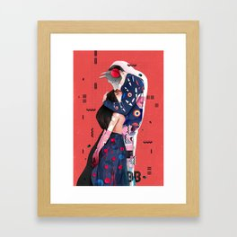 """""""LOVE"""" (Turn your head to the sky, we're burning in the heat below) Framed Art Print"""
