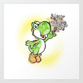 Yoshi Wonderland !  Art Print