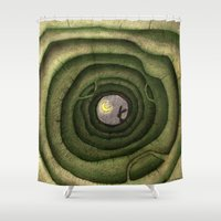rabbit Shower Curtains featuring rabbit by Maria Sciarnamei