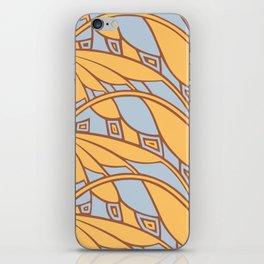 Modern art nouveau tessellations gamboge azure iPhone Skin