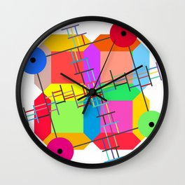 Rotational Symmetry with Square Tiling Wall Clock