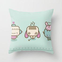 ♥ r o b o t s ♥ Throw Pillow