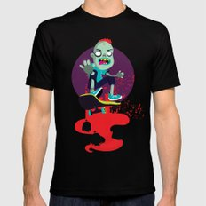 Skater zombie MEDIUM Black Mens Fitted Tee