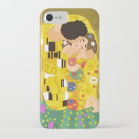 gustav klimt iPhone & iPod Cases featuring The Kiss (Lovers) by Gustav Klimt  by Alapapaju