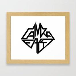 CamRaFace Logo White for T-Shirts Framed Art Print