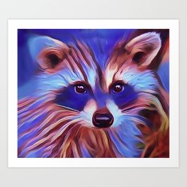 The Raccoon Bandit Art Print