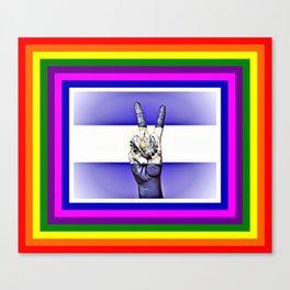 El Salvador World Peace Flag Canvas Print