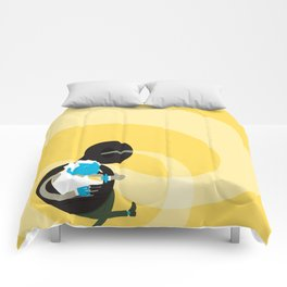 Make it up as you go along - yellow Comforters