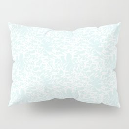 White leaves - Fabric pattern Pillow Sham