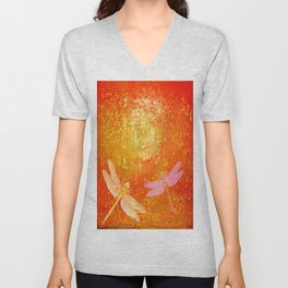 Dragonflies the forgotten clearing Unisex V-Neck