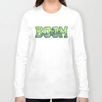 seahawks Long Sleeve T-shirts featuring Legion of Boom Seattle 12th Man Art by Olechka
