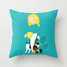 Endo Paw Pals - Commissioned Work Throw Pillow