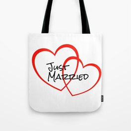 Two Heart Just married Tote Bag