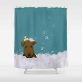 Blue Augie Shower Curtain