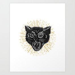 kitty attack Art Print