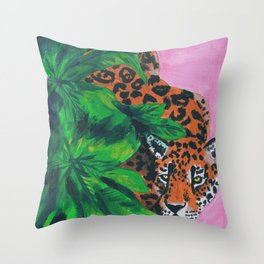 Jungle cat Throw Pillow