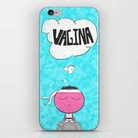vagina iPhone & iPod Skins featuring ...Vagina... by Daniel Belay