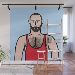 Beard Boy: Andy Wall Mural