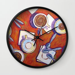 The Get Together ... Kitchen Coffee Cup Art Wall Clock