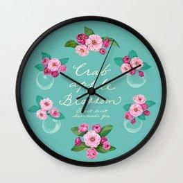 Crabapple Blossom Wall Clock