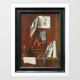 Bernardo Germán de Llórente - The wine Allegory of taste Art Print