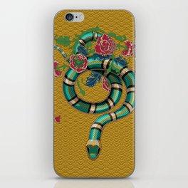 Snake Peonies iPhone Skin