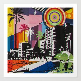 the city 6 Art Print