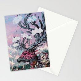 Journeying Spirit (deer) sunset Stationery Cards