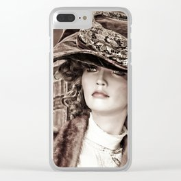 Victorian Mannequin Clear iPhone Case