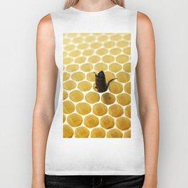 Bee in the honeycomb Biker Tank