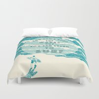 ilovedoodle Duvet Covers featuring You can't stop the wave by I Love Doodle