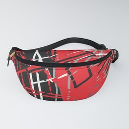 Red Abstract Fanny Pack