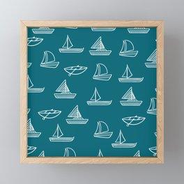 Boats Framed Mini Art Print