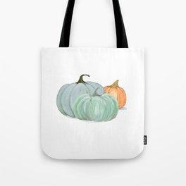 Colorful pumpkin trio Tote Bag
