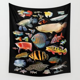 Freshwater tropical fish Wall Tapestry