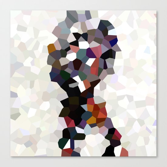 Geometric Anatomy Canvas Print