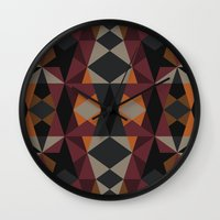 mirror Wall Clocks featuring Mirror by Leandro Pita