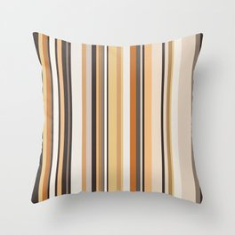 Wooden stripes Throw Pillow