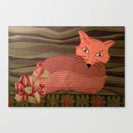 Fiber Fox Canvas Print