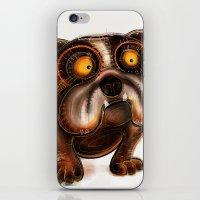 bulldog iPhone & iPod Skins featuring Bulldog by Riccardo Pertici