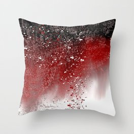 Red Abstract Throw Pillow