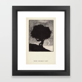 """""""Weary and Heavy Laden"""" from """"Trees at Night"""" by Art Young Framed Art Print"""