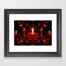 Candle Christmas Framed Art Print